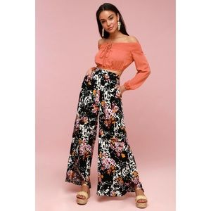 LIKE NEW: Free People Printed Wide Leg Pant XS